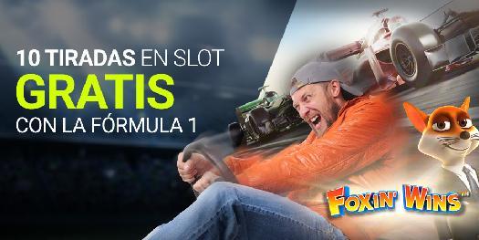 Apuestas formula 1 Luckia 10 tiradas en slot gratis con la Formula 1