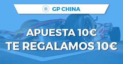 Paston Formula 1 GP China apuesta 10€ y regalamos 10€