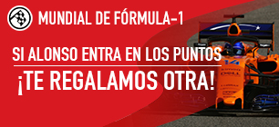 Apuestas formula 1 Sportium GP de China: Si Alonso entra en los puntos... ¡Devolución!