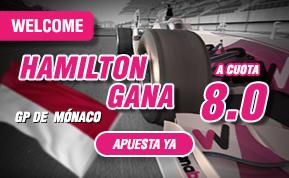 apuestas formula 1 supercuota Monaco hamilton