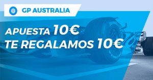 Paston GP Australia apuesta 10€ te regalamos 10€