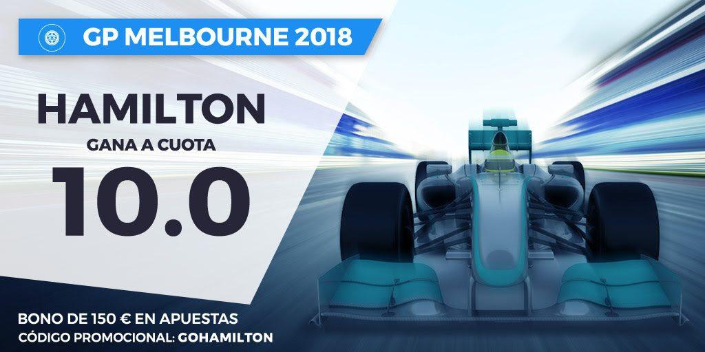 Apuestas F1 Supercuota Paston F1 GP Melbourne Hamilton gana a cuota 10.0