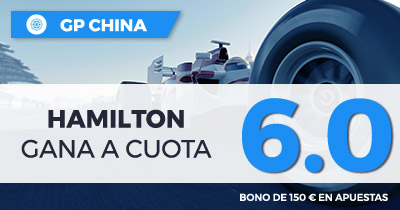 Apuestas Formula 1 Supercuota Paston f1 GP China Hamilton gana a cuota 6.0