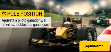 Bwin Formula 1 GP Cataluña apuesta a ganador y dobla tus ganancias!