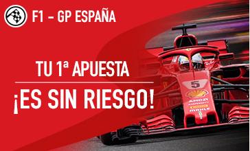 Apuestas Formula 1 Sportium F1-GP de España: Tu 1ª Apuesta ¡es Sin Riesgo!